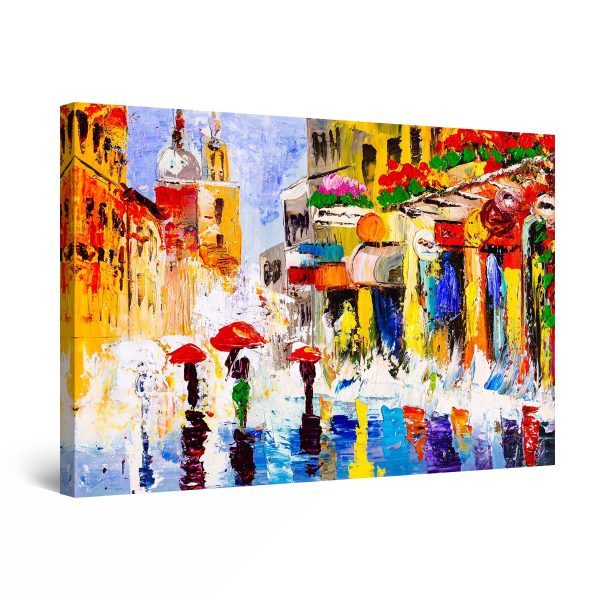 Canvas Wall Art - Abstract - Beautiful and Colored Prague City
