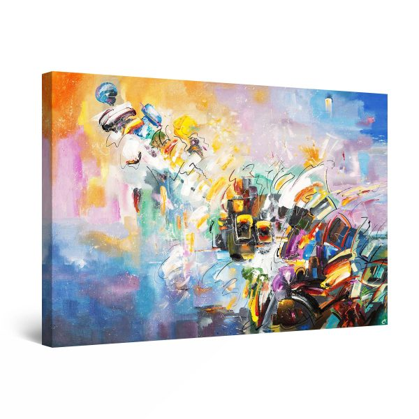 Canvas Wall Art - Abstract ALL Colors 80 x 120 cm