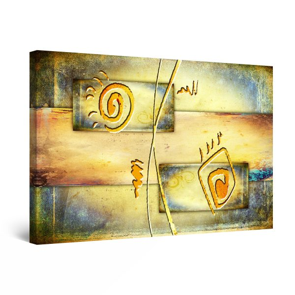 Canvas Wall Art - Warm Colors Abstract Geometric
