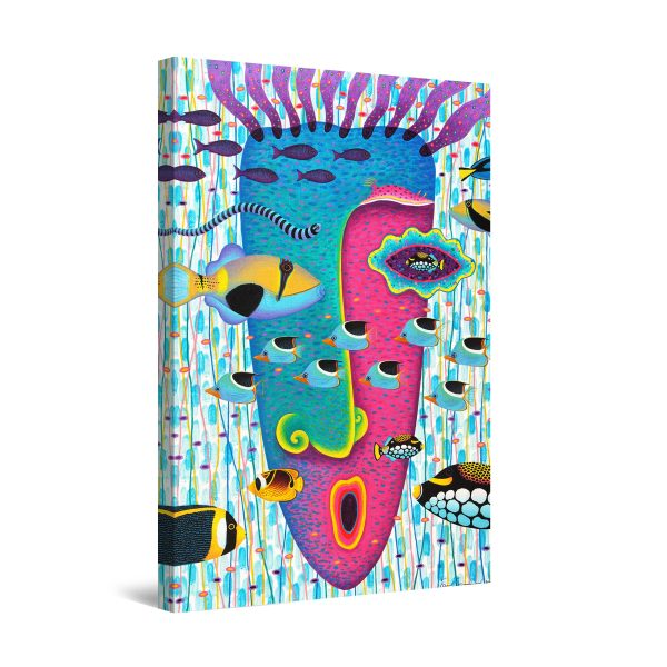 Canvas Wall Art - Colored Fish