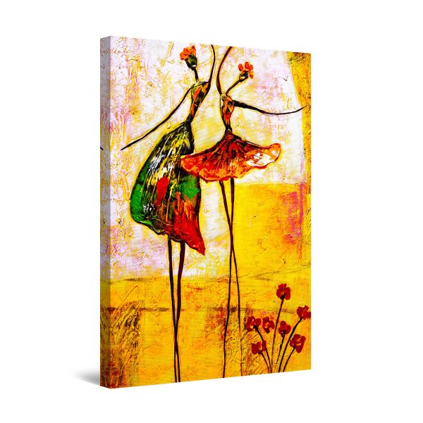 Canvas Wall Art - Abstract Ballerinas Dancing
