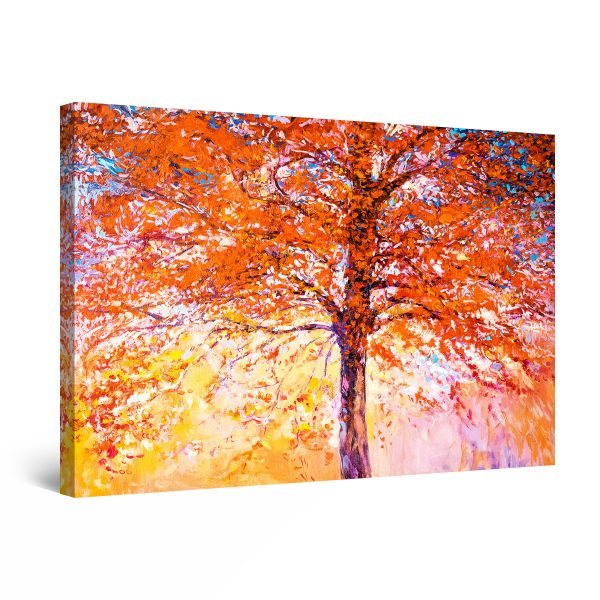 Canvas Wall Art - Tree Red All Around