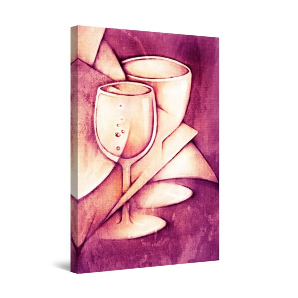 Canvas Wall Art - Wine Abstract Glasses