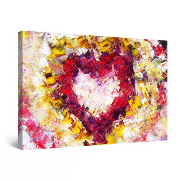 Canvas Wall Art - Love Heart Colored
