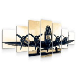 Huge Canvas Wall Art – B-17G Flying Fortress Set for Living Room of 7 Panels