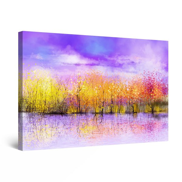 Canvas Wall Art - Mauve Pink and Orange Abstract