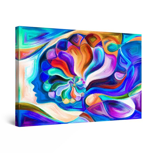 Canvas Wall Art - Abstract FACES Flower Power