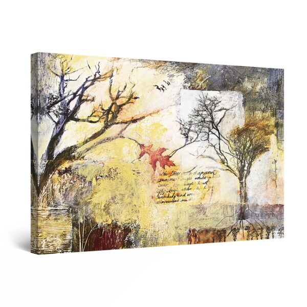 Canvas Wall Art - Abstract Trees Collage