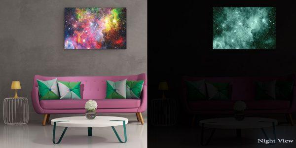 Canvas Wall Art - Abstract - Multicolor Galaxy, Purple Dream
