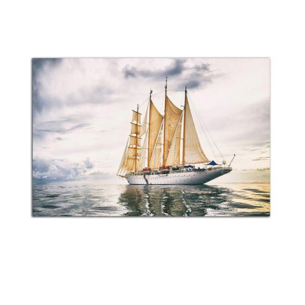 Plexiglass Wall Art - Tempered Boat Trip Decor  60 x 90 CM