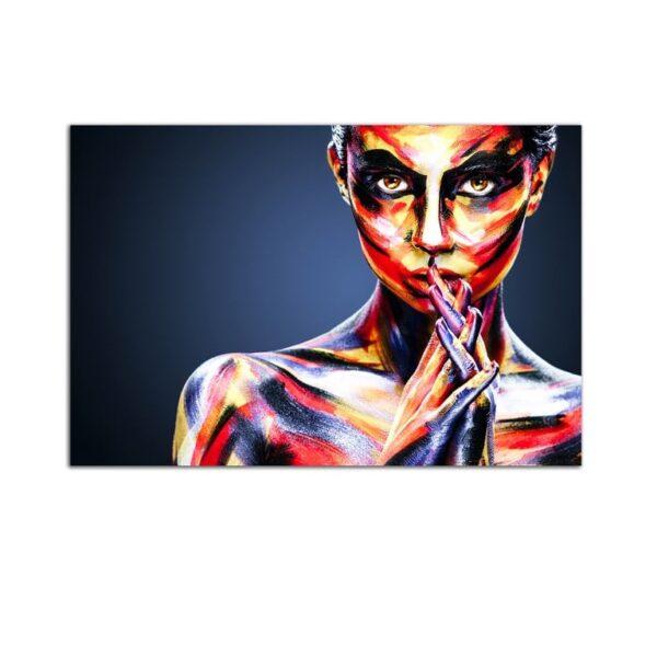 Plexiglass Wall Art - Painted Inspirational Woman Decor  60 x 90 CM