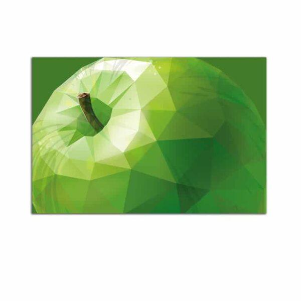 Plexiglass Wall Art - Stylized Green Apple Decor  60 x 90 CM