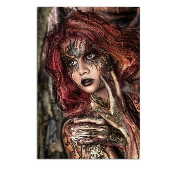 Plexiglass Wall Art - The Red Haired Woman Decor  60 x 90 CM