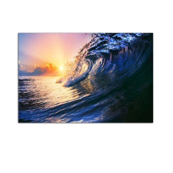 Plexiglass Wall Art - Navy Blue Wave Decor  60 x 90 CM