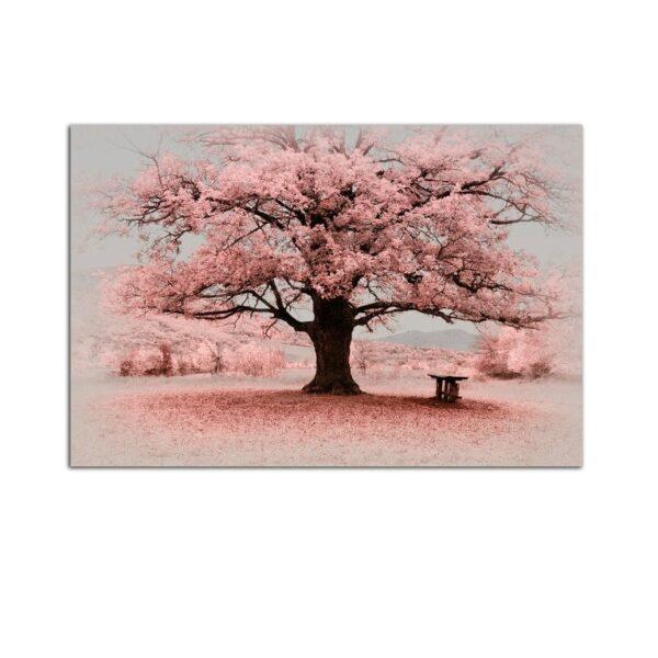 Plexiglass Wall Art - Pink Tree Decor  60 x 90 CM