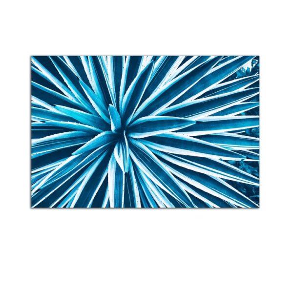 Plexiglass Wall Art - Turquoise Plant Decor  60 x 90 CM