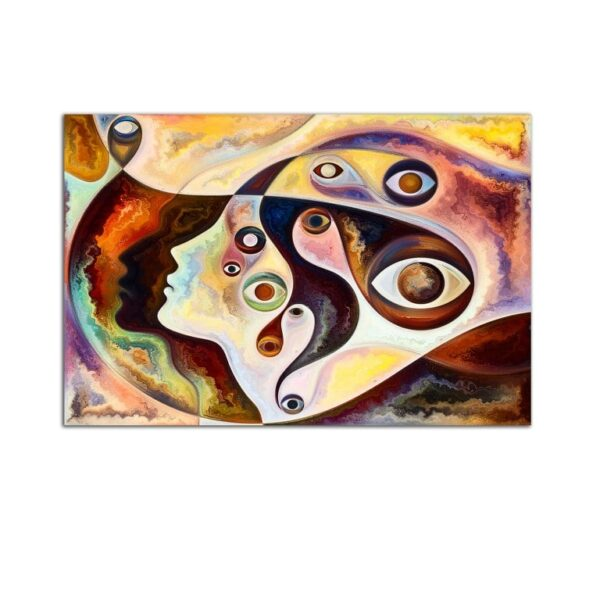 Plexiglass Wall Art - Abstract Vision in Shades of Brown Decor  60 x 90 CM