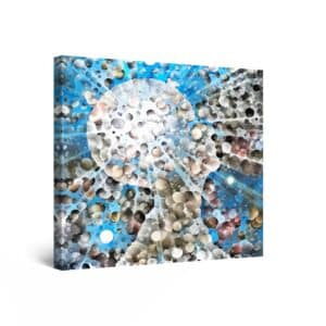 Canvas Wall Art Abstract - Brainstorming, Great Ideas 80 x 80 cm