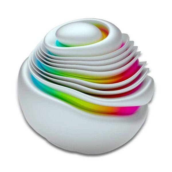 Plexiglass Wall Art - Multicolored Round Spiral Rainbow Decor  60 CM