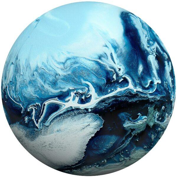 Plexiglass Wall Art - Abstract Earth Round Decor 60 CM