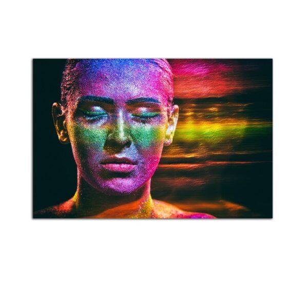 Plexiglass Wall Art - Glitter Woman Decor  60 x 90 CM