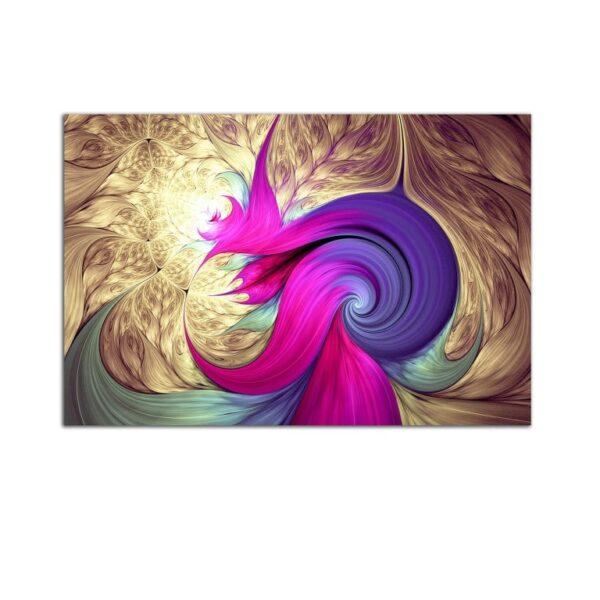 Plexiglass Wall Art - Purple Abstract Shapes Decor 60 x 90 CM
