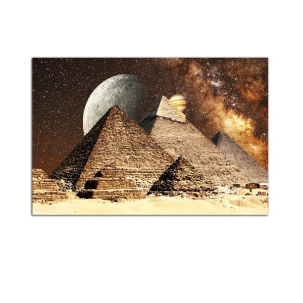 Plexiglass Wall Art - Pyramids under the Moon Decor  60 x 90 CM