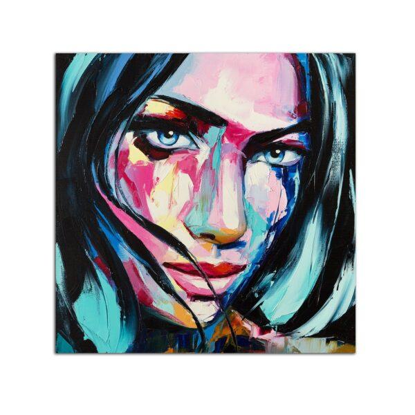 Plexiglass Wall Art - Lovely Woman Portrait Decor 60 x 60 CM