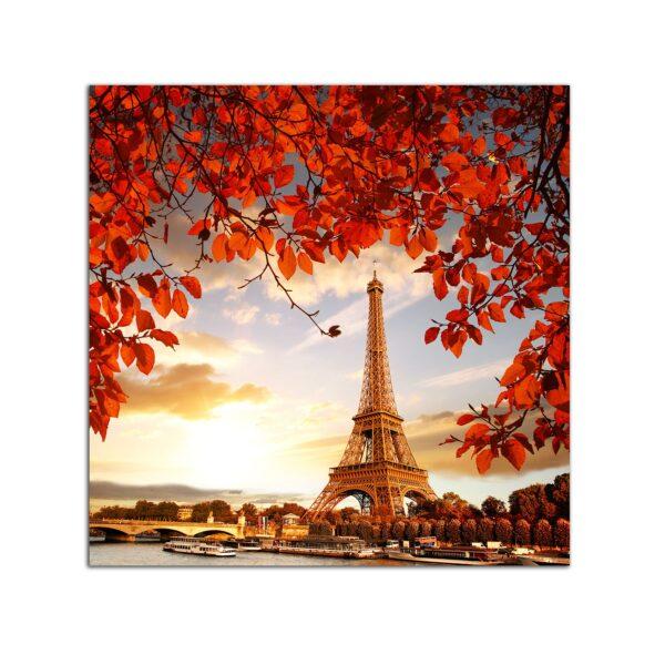 Plexiglass Wall Art - Paris in Red Decor 60 x 60 CM