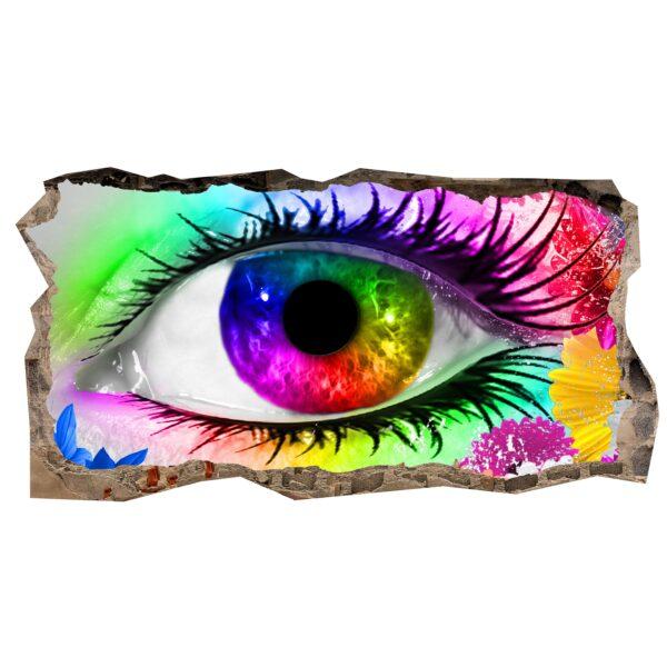 3D Mural Wall Art - Eye Origin Amazing