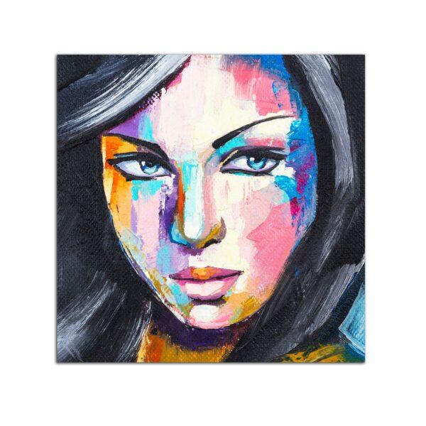 Plexiglass Wall Art - Woman Portrait Decor 60 x 60 CM