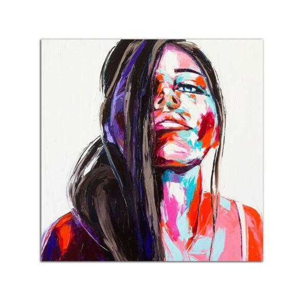 Plexiglass Wall Art - Woman's Senses Decor 60 x 60 CM
