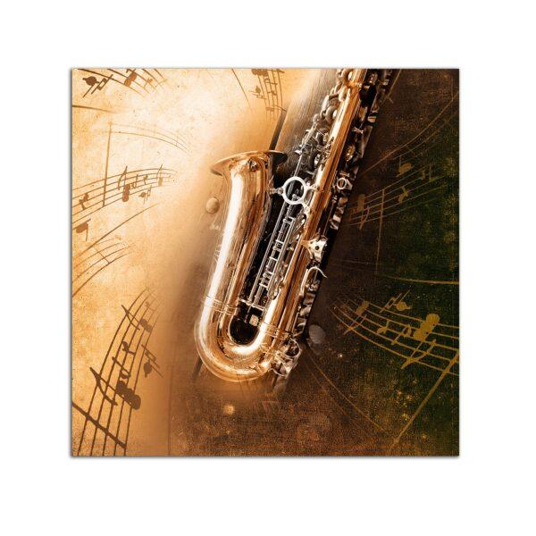 Plexiglass Wall Art - Golden Trumpet Decor 60 x 60 CM