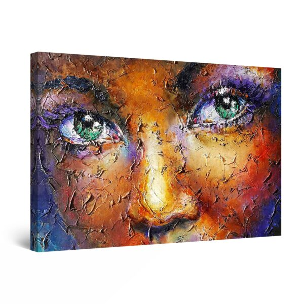 Canvas Wall Art - The Woman with Green Eyes
