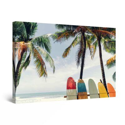 Canvas Wall Art - Surfers Decor Beach